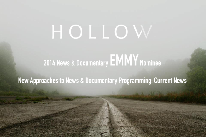 Hollow Documentary Emmy Nomination